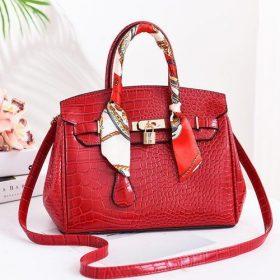 Mini sac à main simili cuir - Rouge
