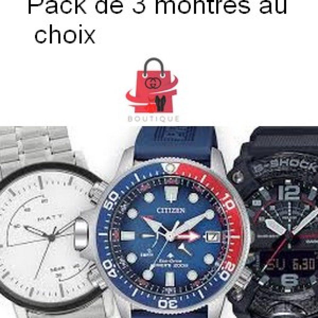Pack de 3 montres