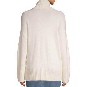 Vêtement pour femme pull blanc vue de dos