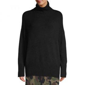 pull ample de couleur noir