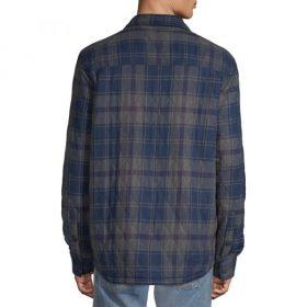 Chemise pour homme mâche longue vue de dos