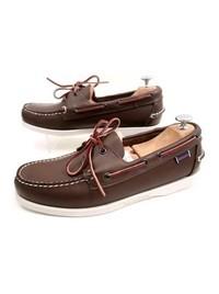 Chaussure Sébago Bateau Cuir Marron