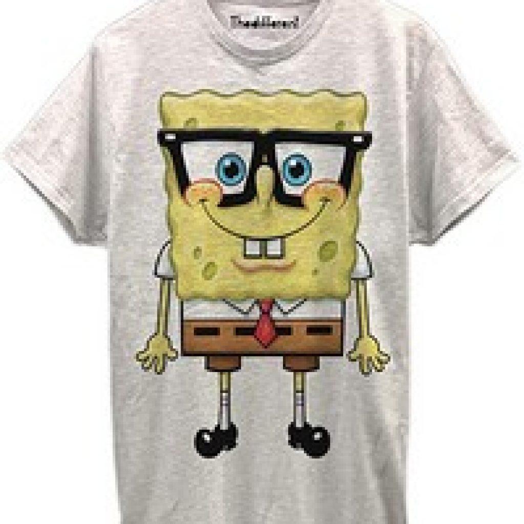 T-shirt gris bob l'éponge