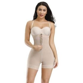 Gaine Ventre Plat Shorty Remonte Fesses (Beige)