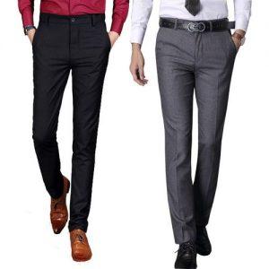 Lot de 2 pantalons Super Cent - Coupe Droite - Noir et Gris
