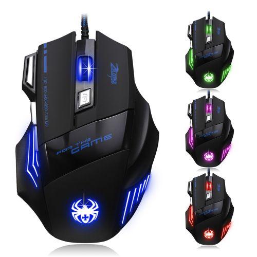 Souris Gamer Couleur Bleu LED Optique