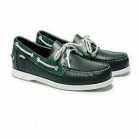 Chaussure sebago docksides homme vert