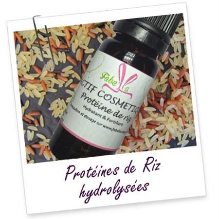 ACTIF COSMÉTIQUE: Protéines de riz hydrolysées (10ml)